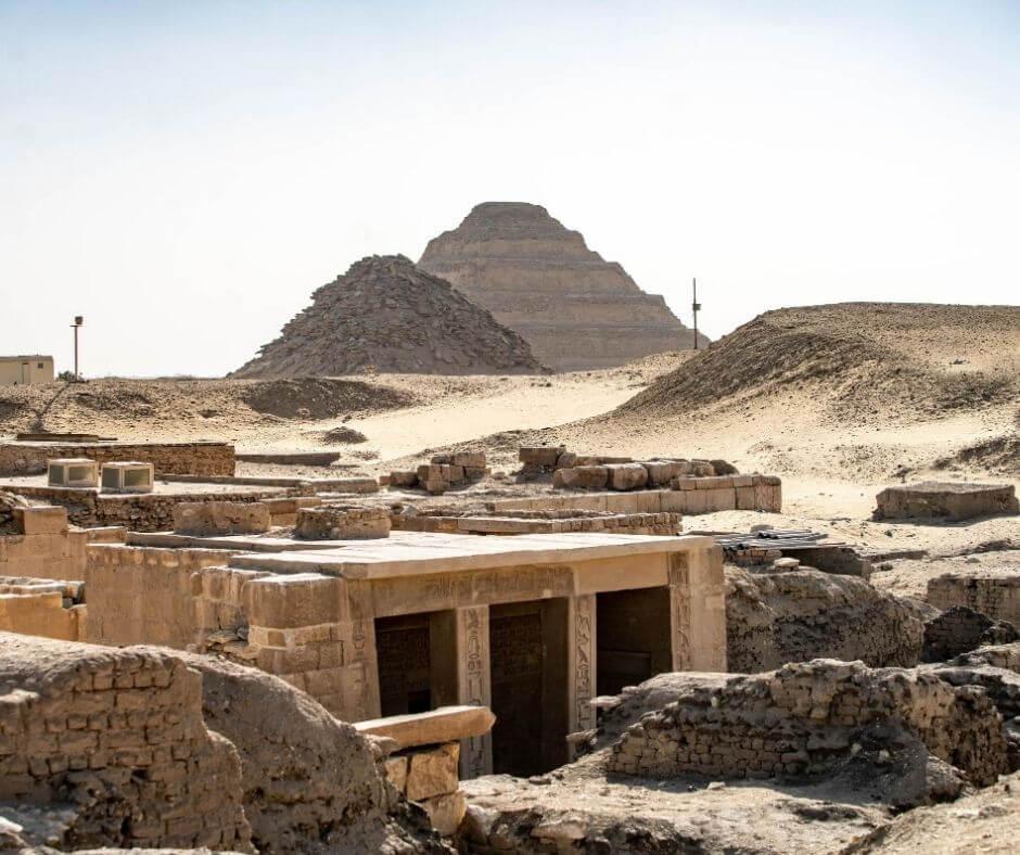 Ruins of Saqqara Cairo-pyramids