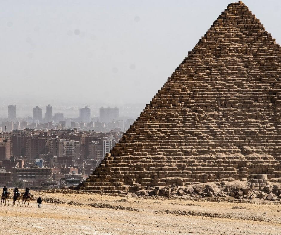 Limit of the city in Cairo