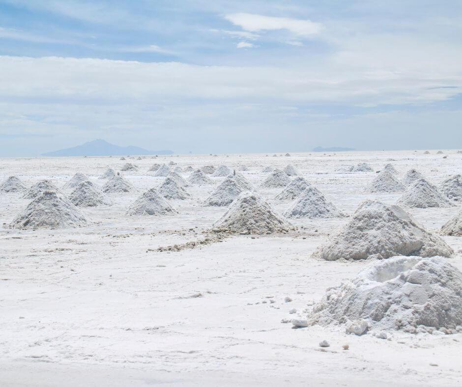 salt deposits in Uyuni Salt Flats