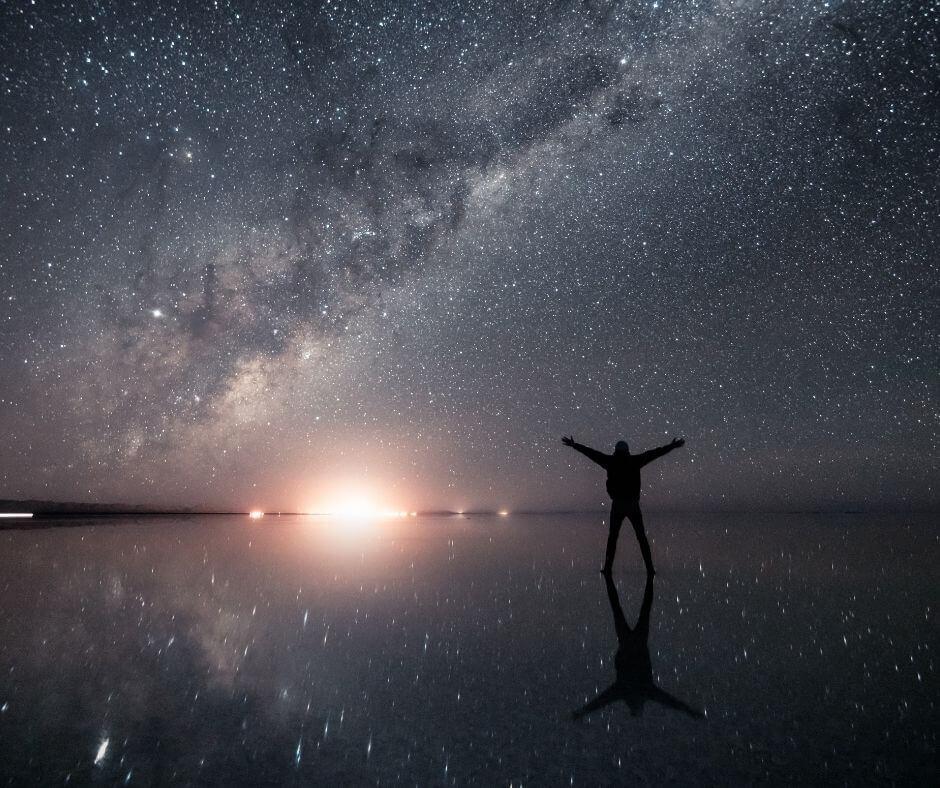 Stargazing in Uyuni Salt Flats