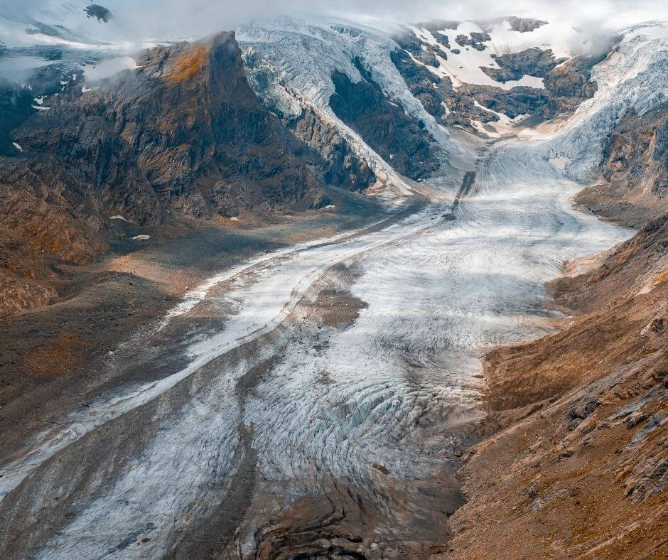 View of the Pasterze Glacier