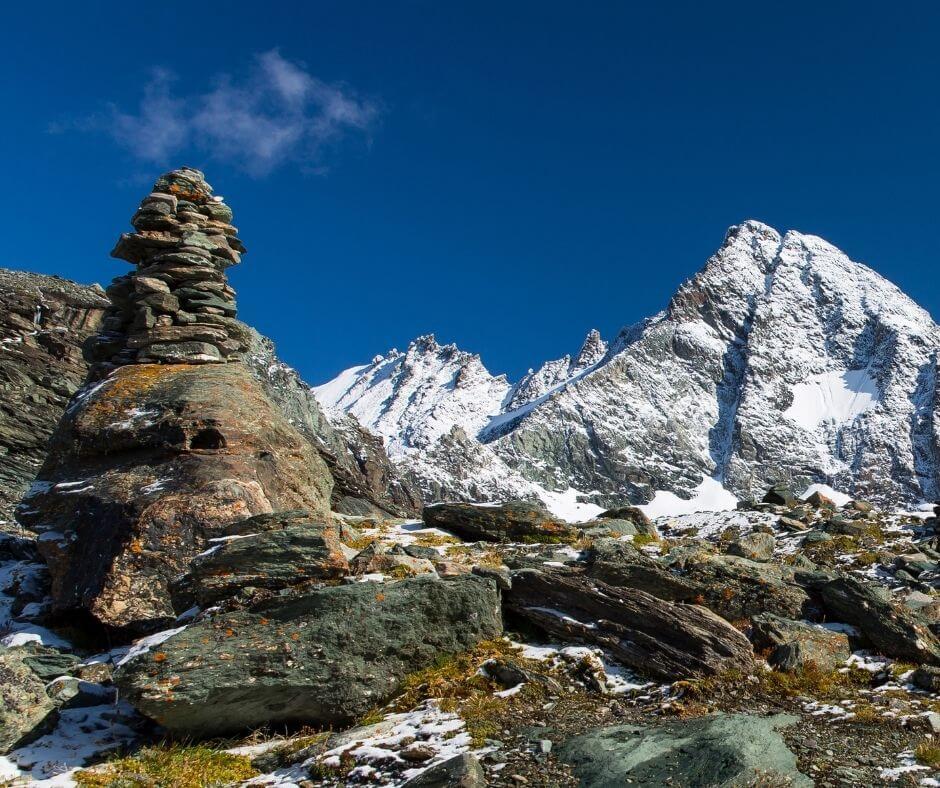 Mountain views while hiking