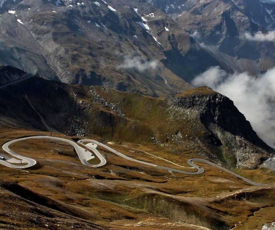 Views of the road in Summer - Alps road trip - Grossglockner High Alpine Road