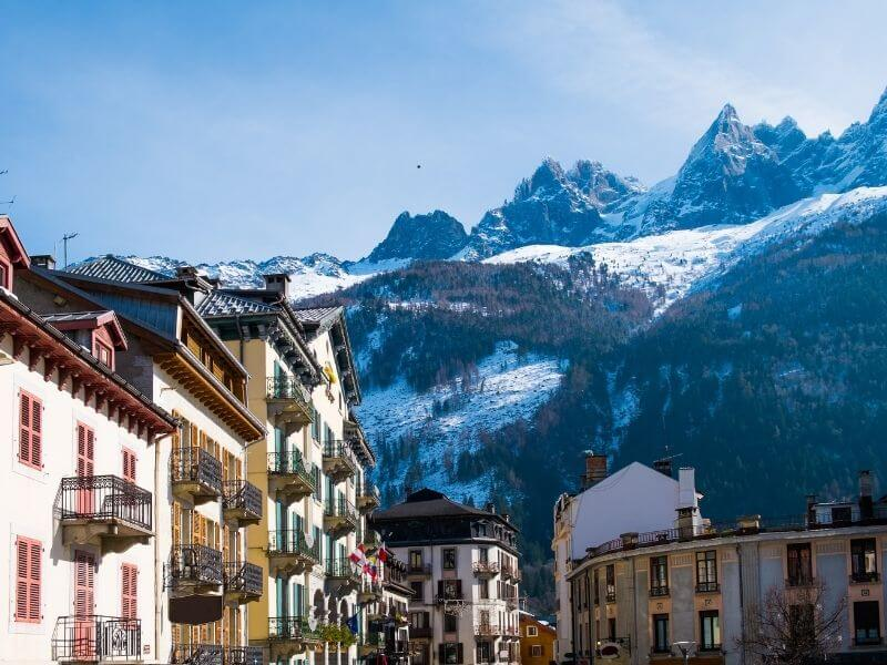 Chamonix at the French Alps during a road trip