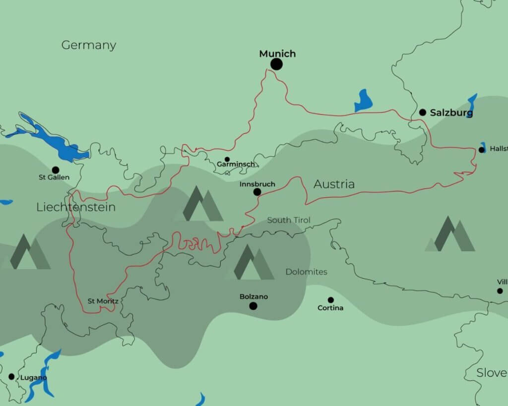 7 day across the German speaking countries