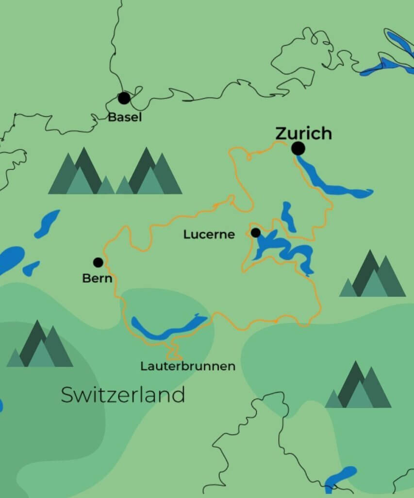 4 days exploring the Swiss Alps