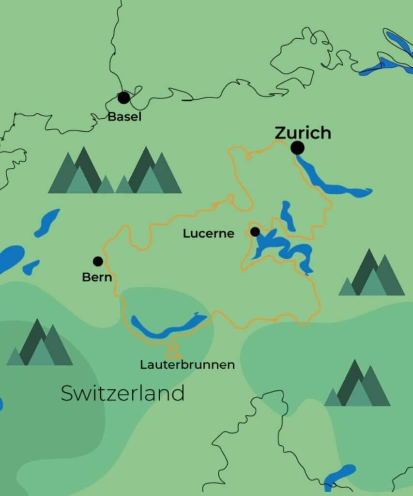4 days exploring the Swiss Alps