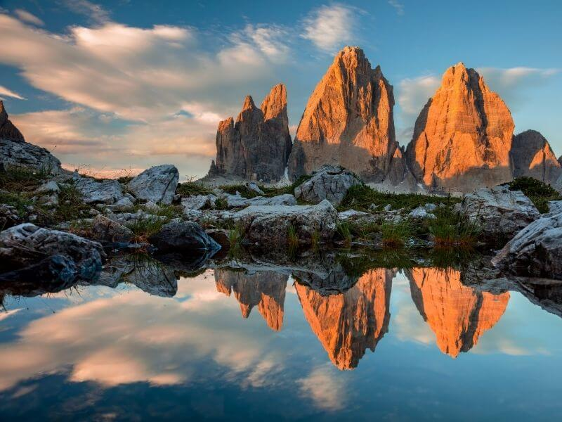 Views of the Dolomites - outdoor activities