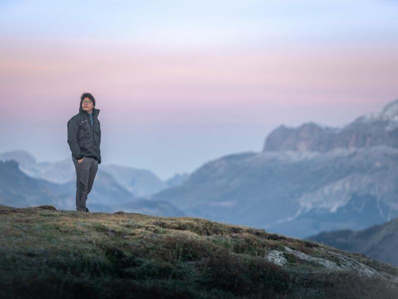 Hiking in the Dolomites-Alta-Via