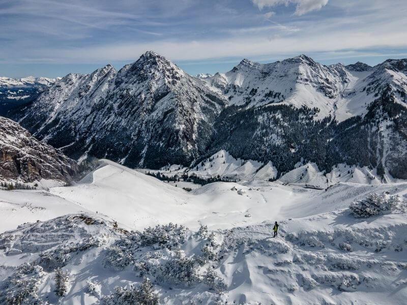 Aerial views of the Liechteinstein Alps