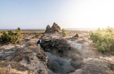 sulphur lake Lac Abbe Djibouti