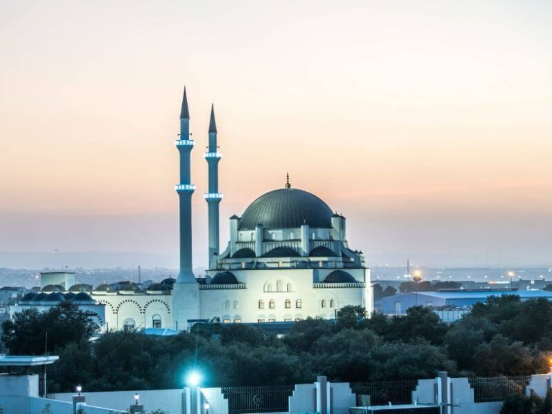 The Turkish Mosque in Djibouti City at night - Travel guide Djibouti City