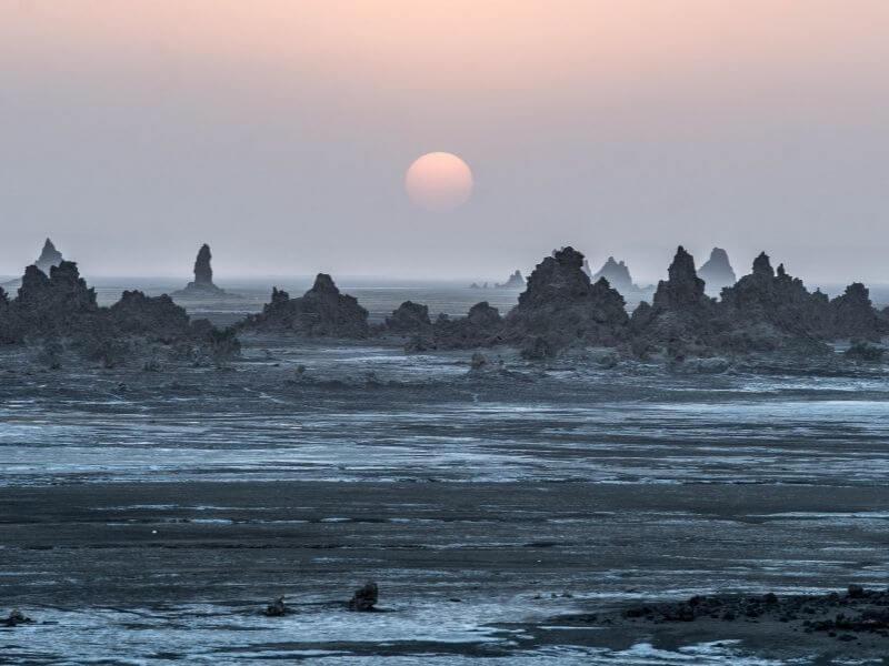 Sunset at Lac Abbe Djibouti