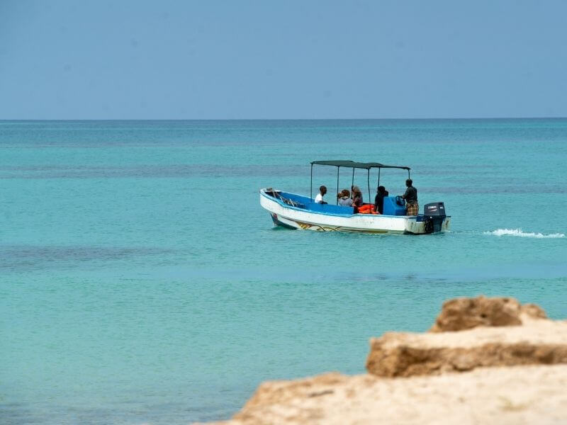 Moucha Island is located 20-30 minutes from Djibouti City
