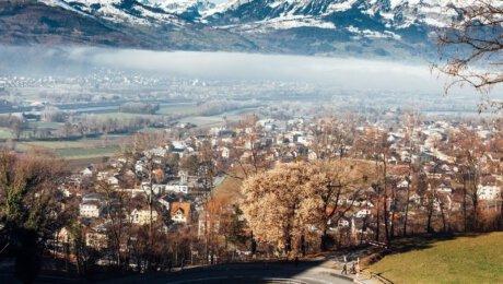 Liechtenstein Trail View of Vaduz