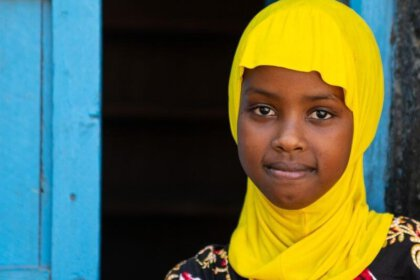 Inside Somaliland - country in Horn of Africa - Girl from Somaliland