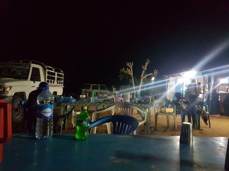 Passing small villages at night in Somaliland