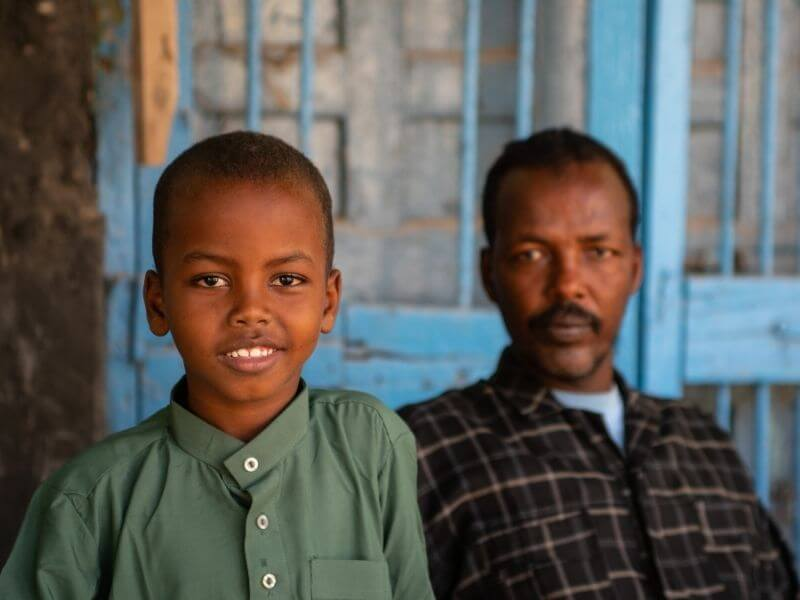 Father and son in Berbera