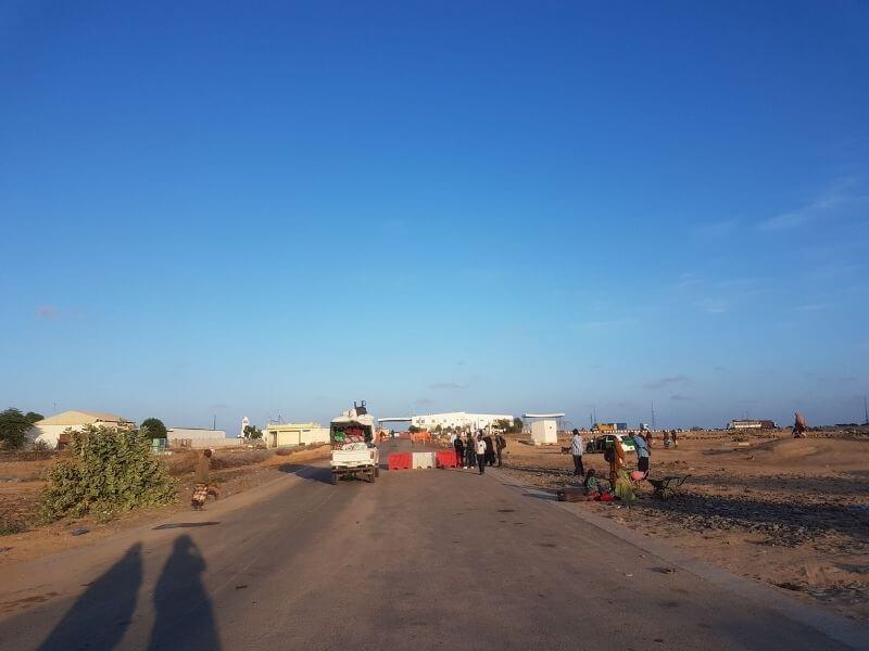 Border control of Djibouti between Somaliland