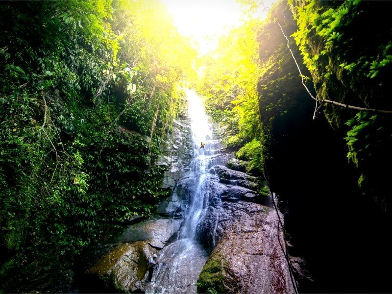 Most beautiful waterfall in Colombia