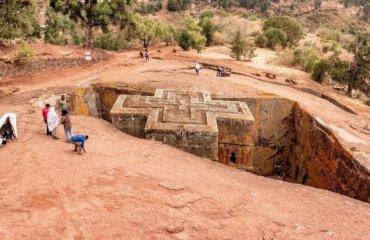 Lalibela St George rock church Ethiopia