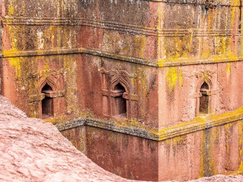Details of the St George Church in Lalibela,  Ethiopia