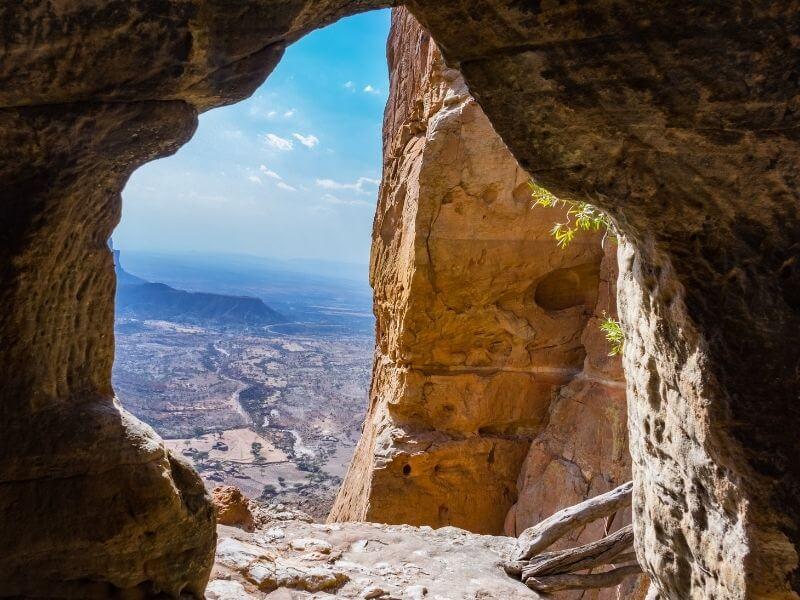 View from the Abuna Yemata Guh church