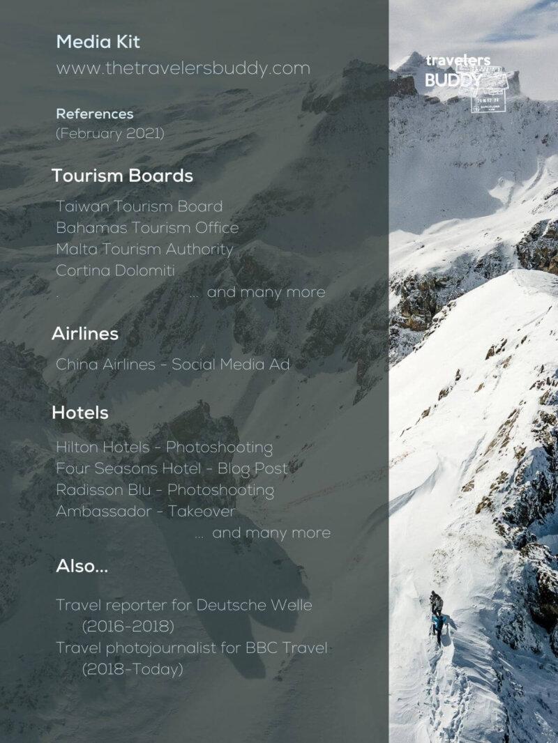 References Media Kit Travel Blog - Juan Martinez