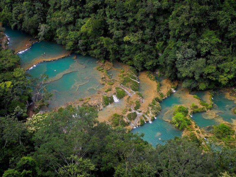 Semuc Champey Guatemala - most beautiful waterfall Central America