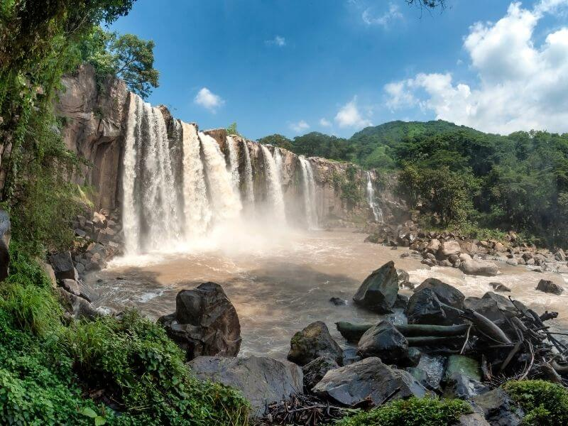 Los Amates Waterfall in Guatemala