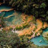 Semuc Champey-most beautiful waterfall Guatemala-Central America