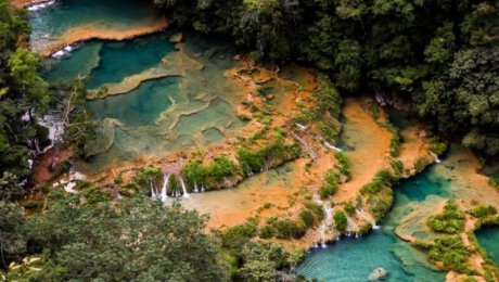 Semuc Champey-most beautiful waterfall Guatemala-Central America