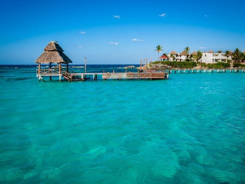Pier of Isla Mujeres in Mexico