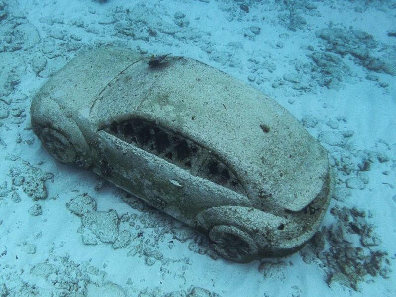 Volkswagen Beetle MUSA Underwater museum of Art