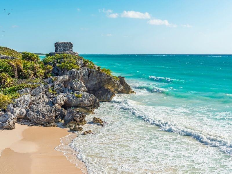 The archeological site of Tulum is known for its pristine location