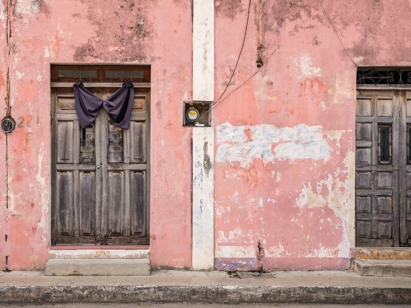 Colorful streets in Valladolid