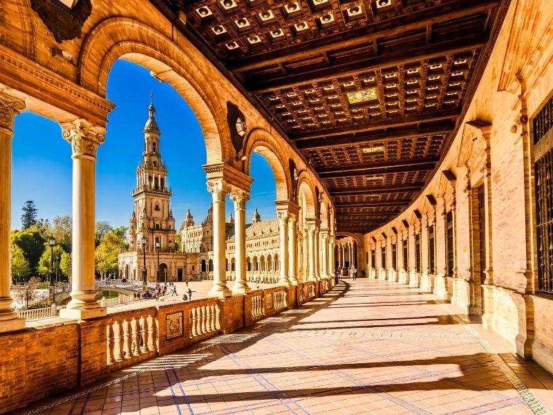 View of Plaza de Espana in Seville