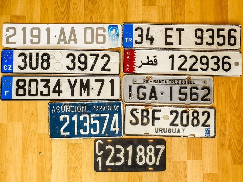 Collecting license plates Europe