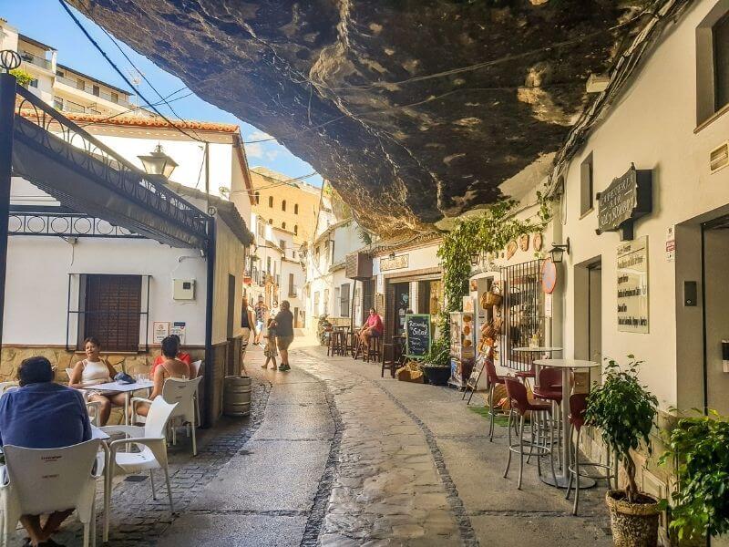 Setenil de las Bodegas under a rock - white villages in Andalucia