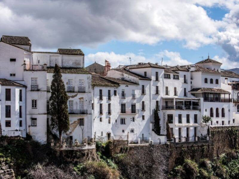 Ronda overlooks the Andalucian landscape - white villages in Andalucia