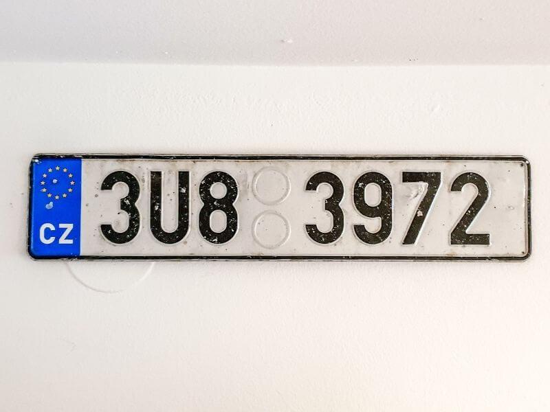 Czech license plate