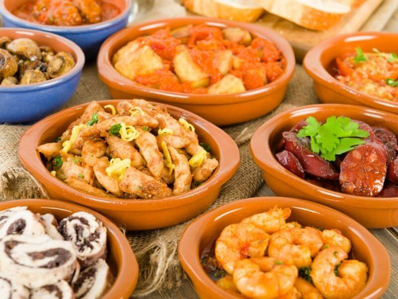 A table full of tapas