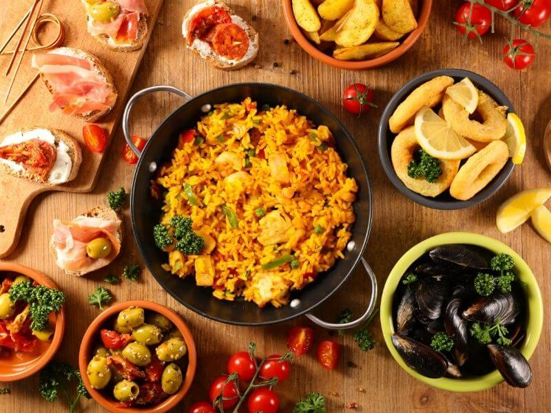 Plate of typical spanish food