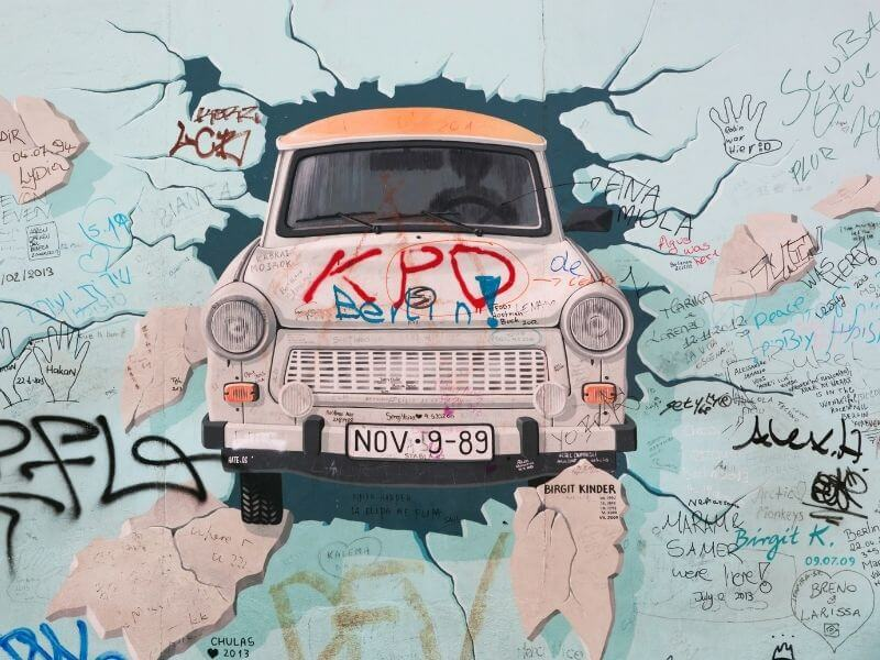 One of the most famous artworks at the East Side Gallery gets destroyed constantly by tourists
