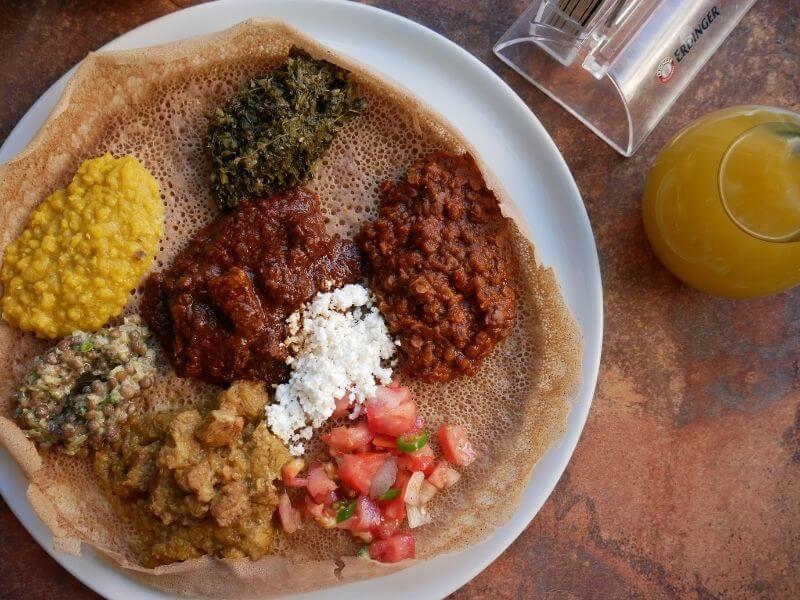 Ethiopian food in Bejte Berlin