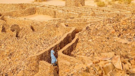 Old town in Ouadane in Mauritania